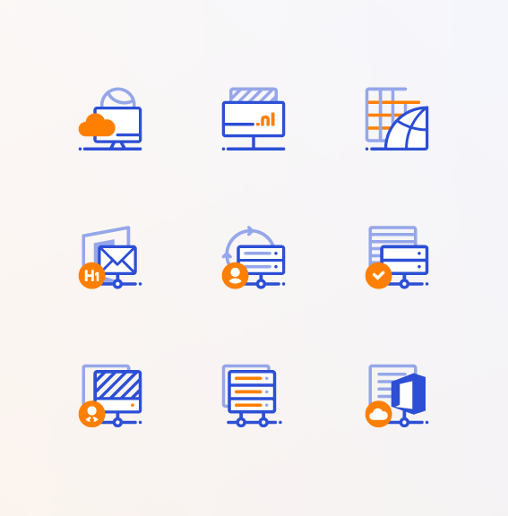Hosted icon design